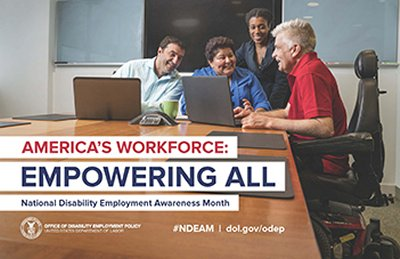 October is National Disability Employment Awareness Month poster
