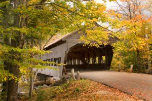 New England Autumn Foliage and Covered Bridges